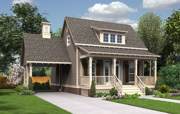 1625 front elevation color art
